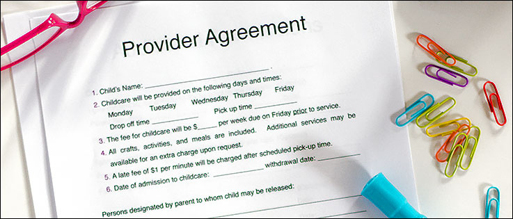 free daycare contract